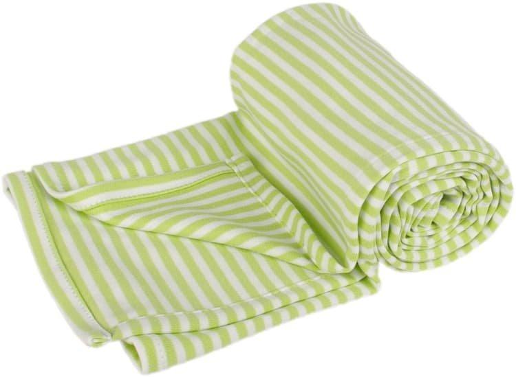 Letn� deka 150x200cm zelen� prou�ky - zv��i� obr�zok
