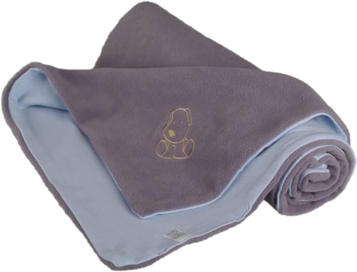 D�tsk� deka s pejskem fleece bavlna 70x100 cm  �edo modr� - zv��i� obr�zok