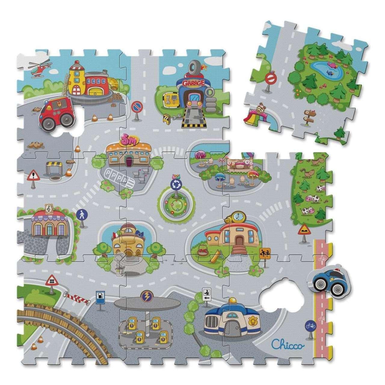 P�nov� puzzle m�sto 30x30 cm 9 ks - zv��i� obr�zok