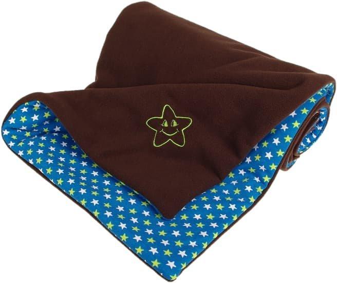 Zateplen� detsk� deka 70x100 cm hned� Hviezdi�ky - zv��i� obr�zok