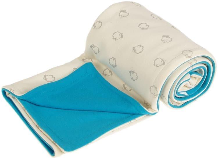 Detsk� deka bio bar�nkovia 70x100 cm merino aqua - zv��i� obr�zok