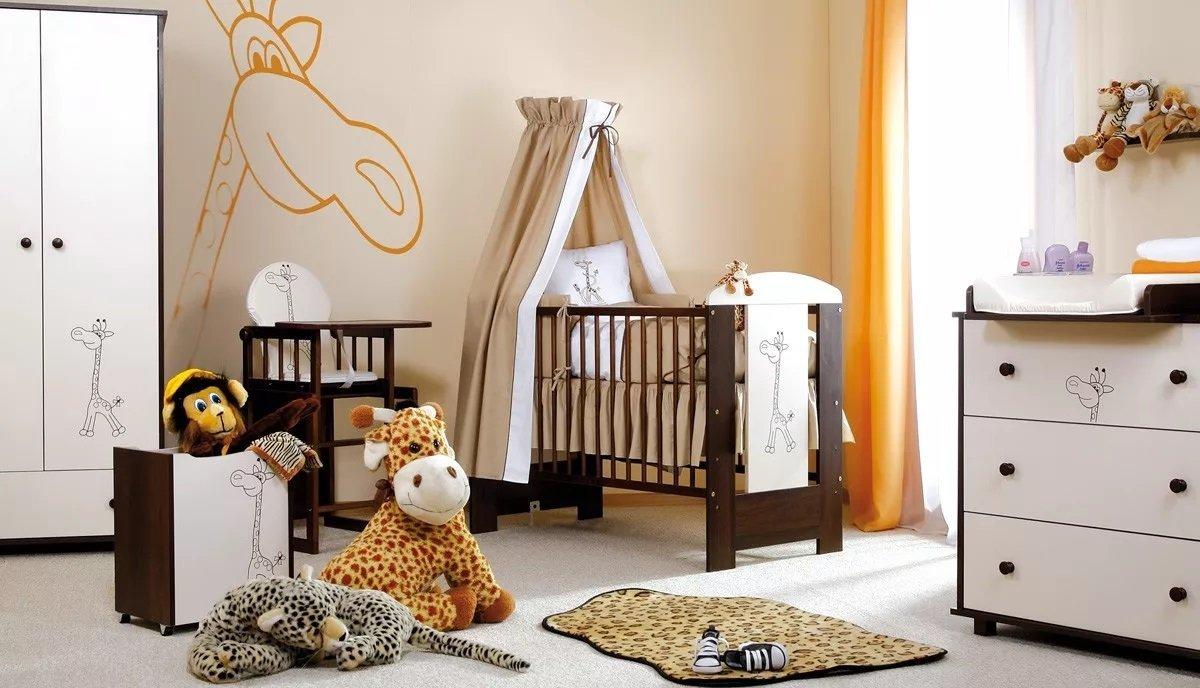 Detsk� izba Safari �IRAFA orech-biela - zv��i� obr�zok