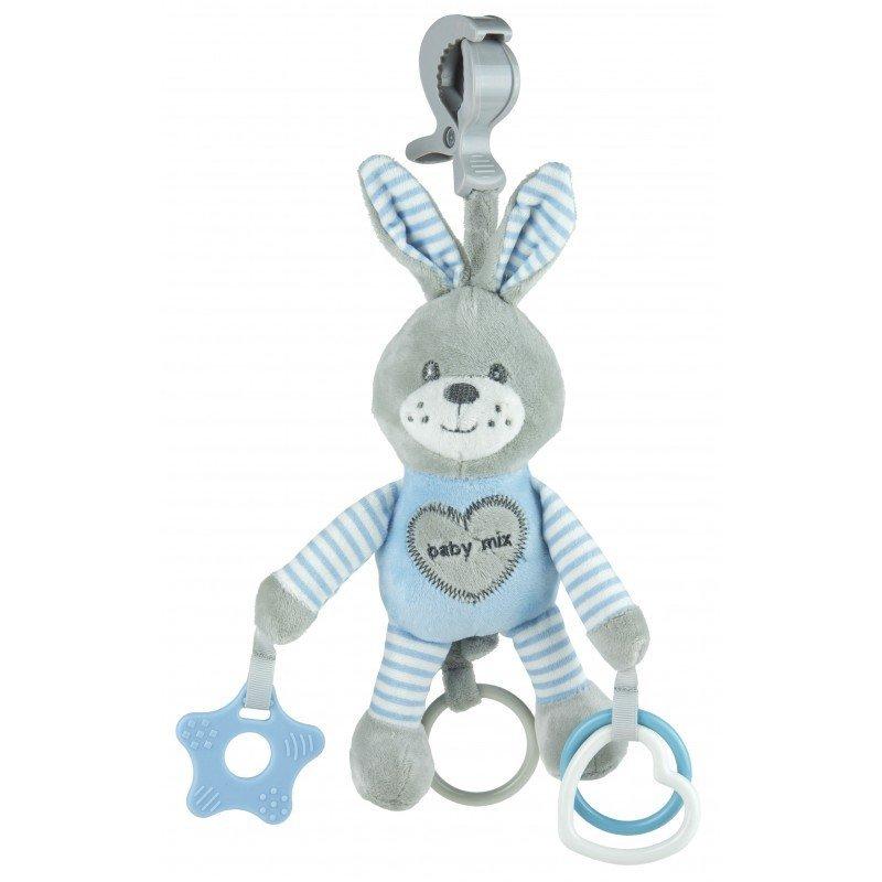 Ply�ov� hra�ka s klipom a vibr�ciami zaja�ik modr� - zv��i� obr�zok