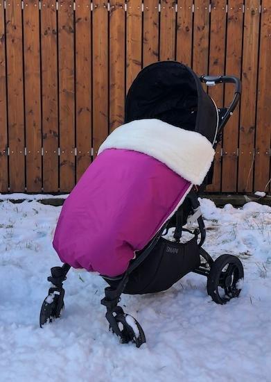 Zimn� deka merino nepadac� 70x100 cm fialov� - zv��i� obr�zok