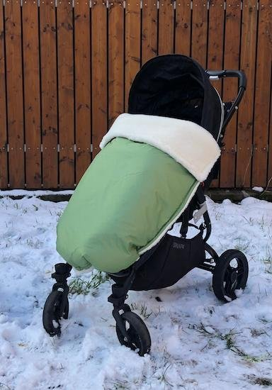 Zimn� deka merino nepadacia 70x100 cm zelen� - zv��i� obr�zok