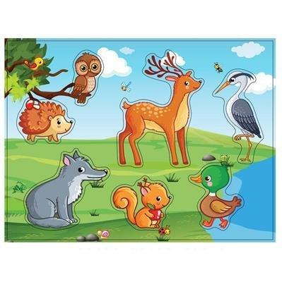 Vklada�ka dreven� lesn� zvieratk� - zv��i� obr�zok