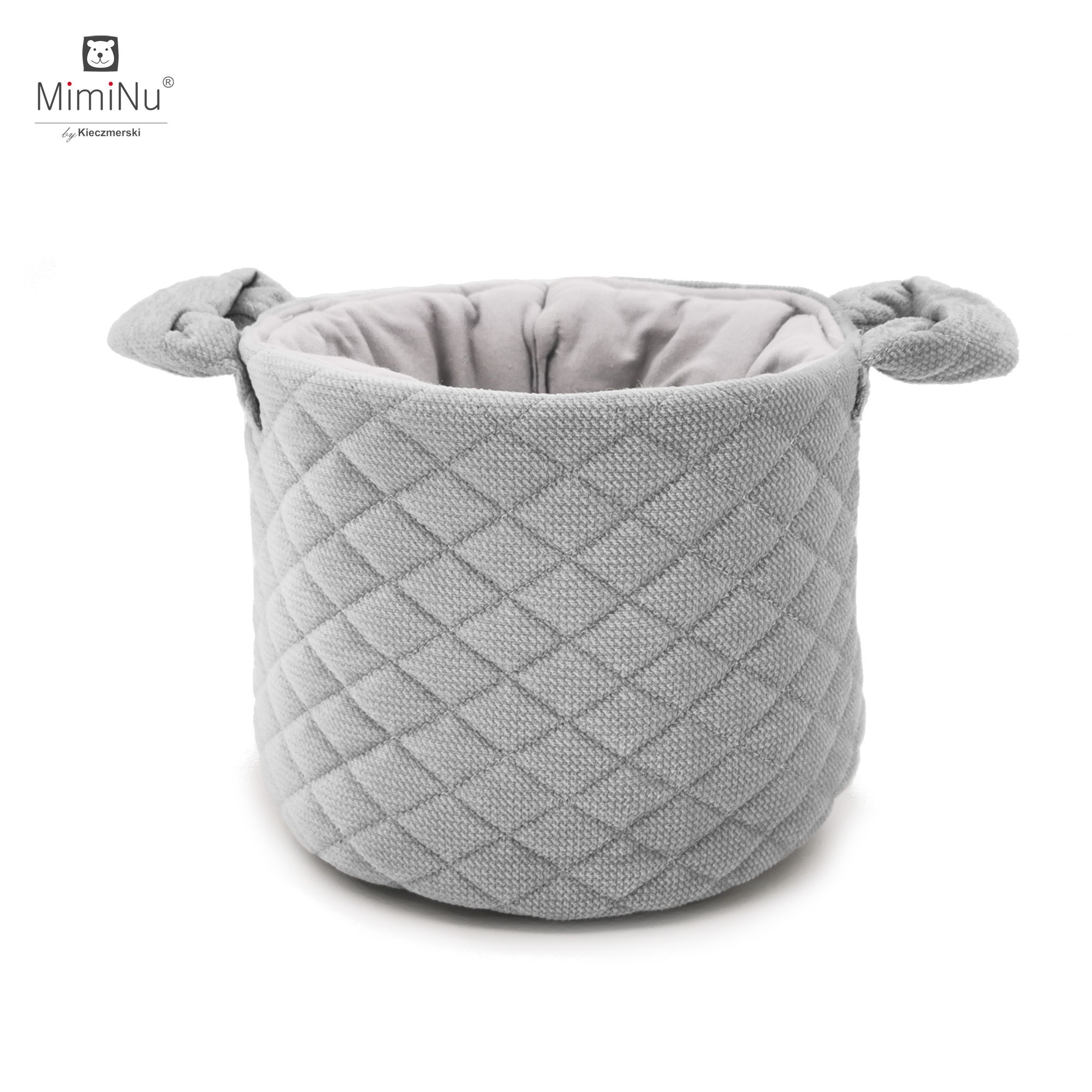 Ko��k na drobnosti Velvet + bavlna siv� - zv��i� obr�zok