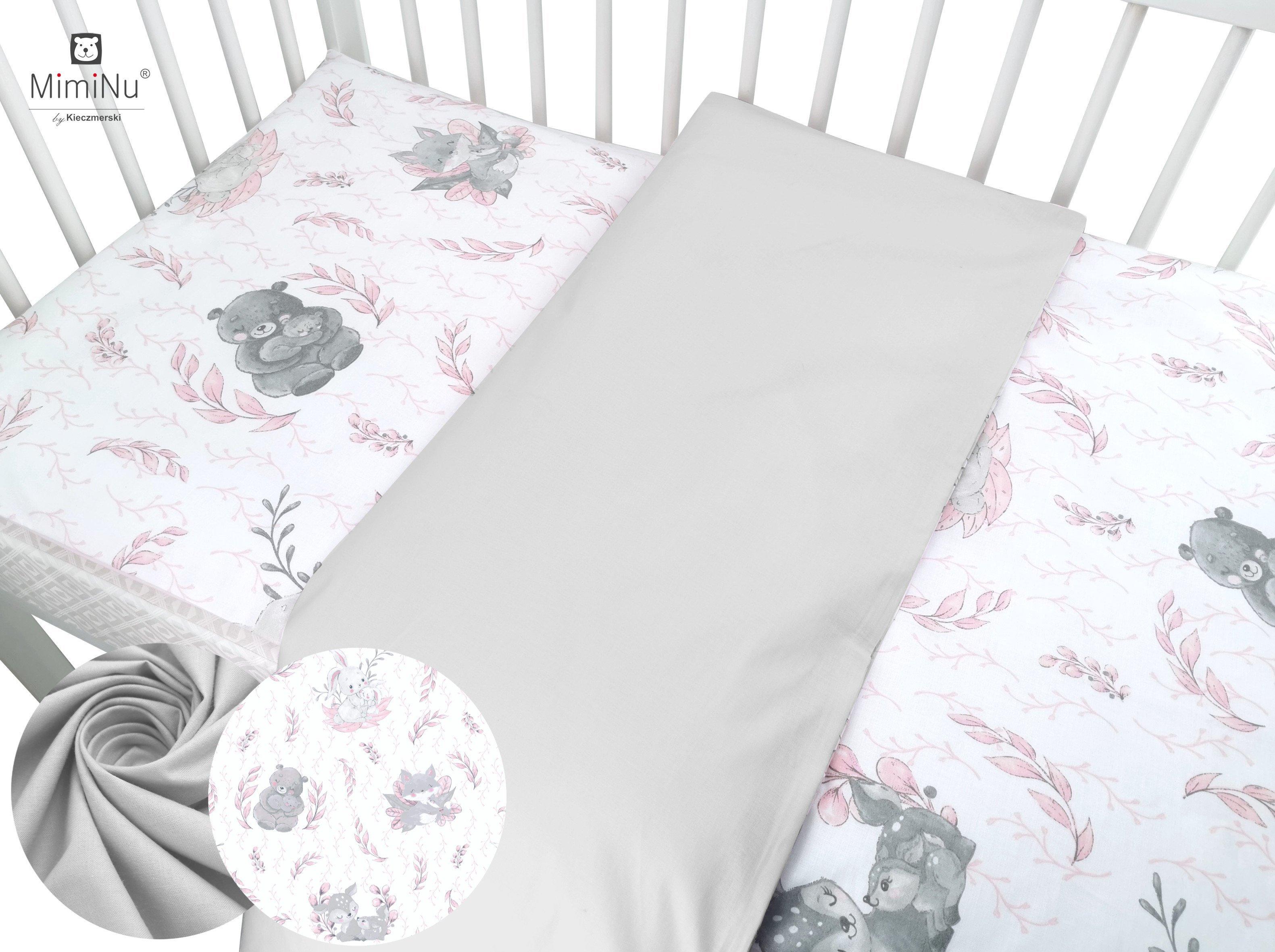 Bavlnen� oblie�ky do postie�ky 90x120 cm 2 diely Lulu siv� - zv��i� obr�zok