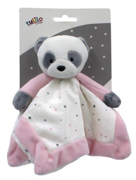 Ply�ov� hra�ka panda 25 cm ru�ov� - zv��i� obr�zok
