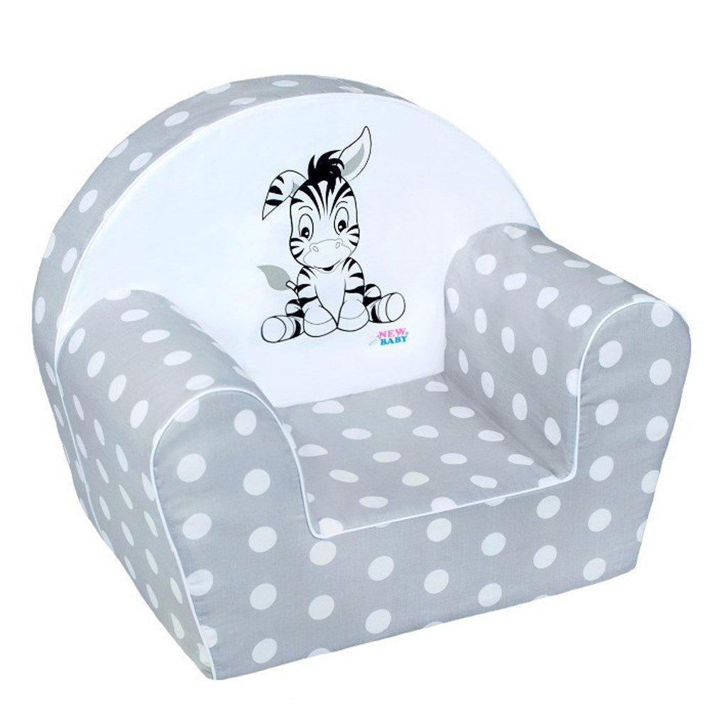 Detsk� kreslo Zebra siv� - zv��i� obr�zok