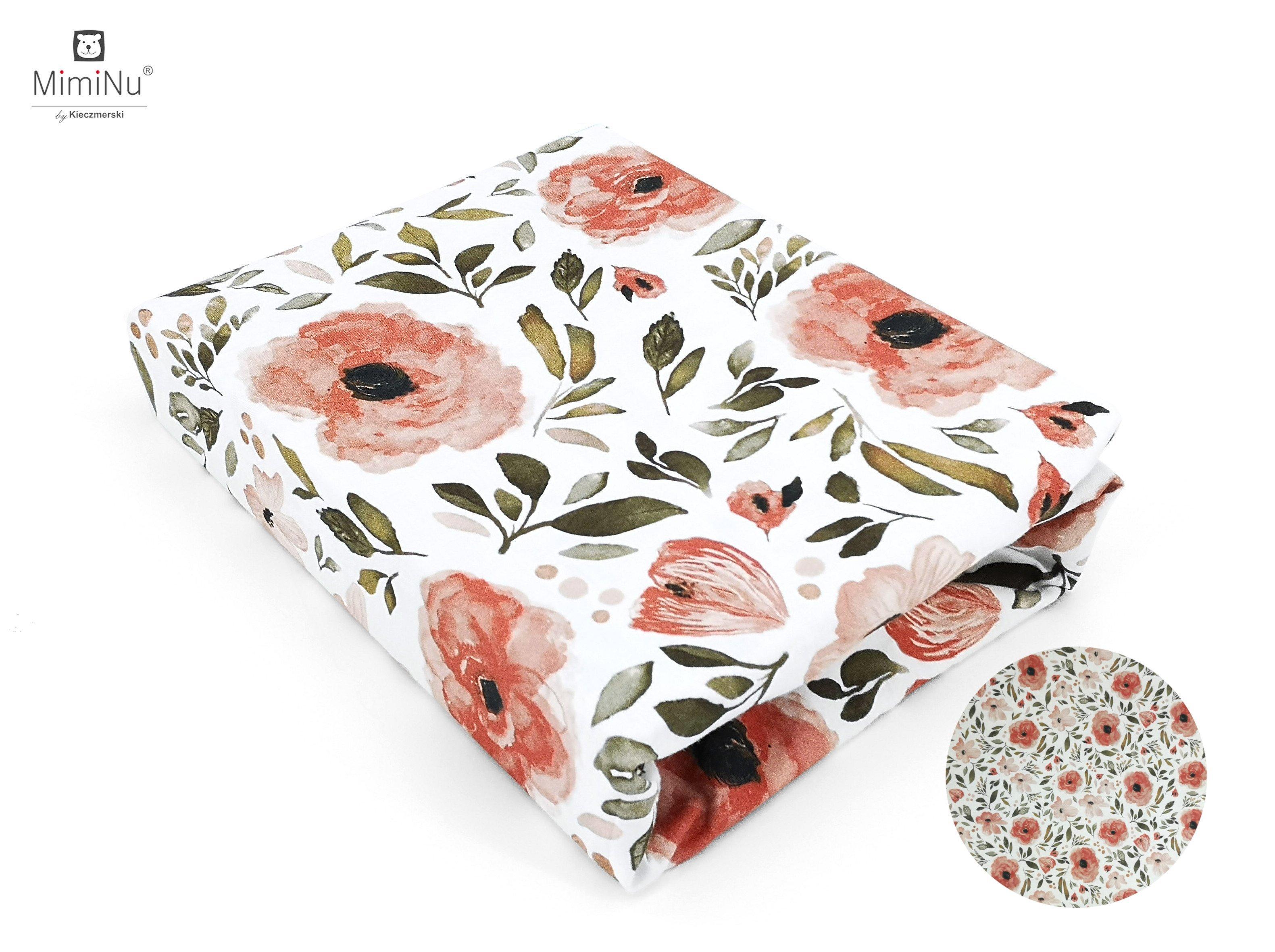 Bavlnen� plachta 120x60 cm Kvety beg�nie - zv��i� obr�zok