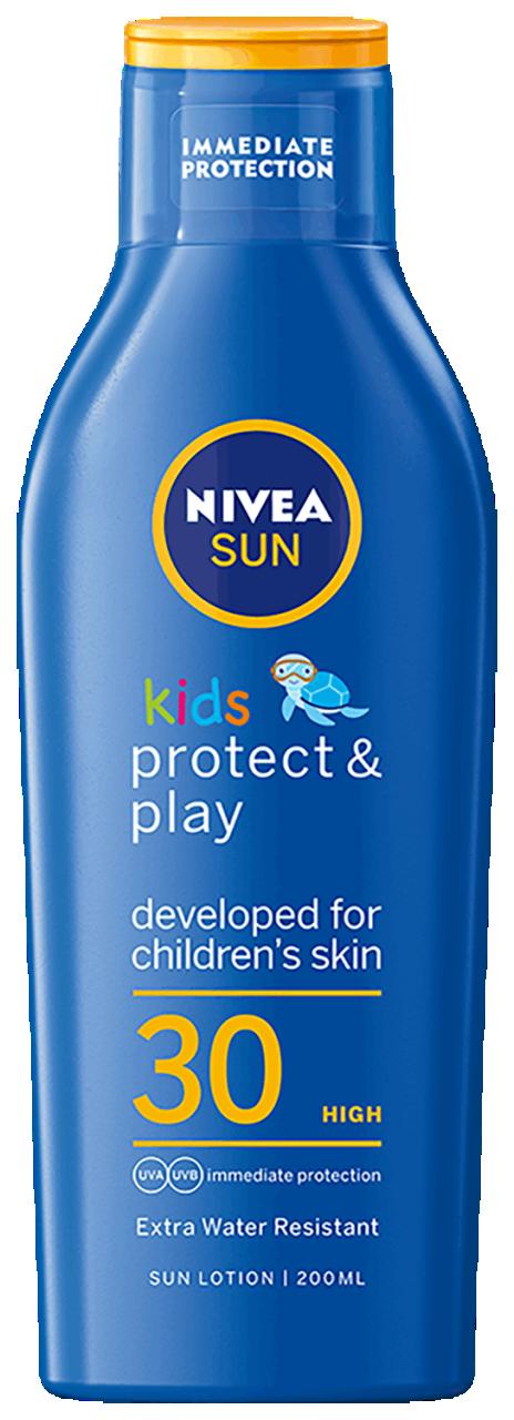 Hydrata�n� ml�ko na opalov�n� Sun Kids Caring  OF 30+ 200 ml - zv��i� obr�zok