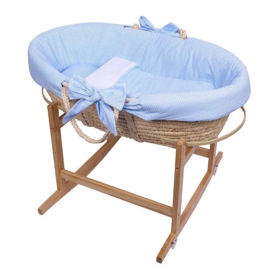 K�� Moj�i�ov pre b�b�tko so stojanom s matracom a oblie�kami 3-dielnym modr� - zv��i� obr�zok