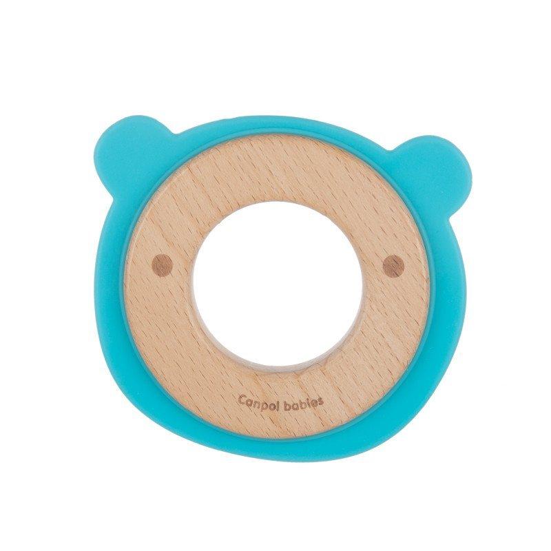 Hryz�tko pre doj�at� drevo silik�n medved�k - zv��i� obr�zok