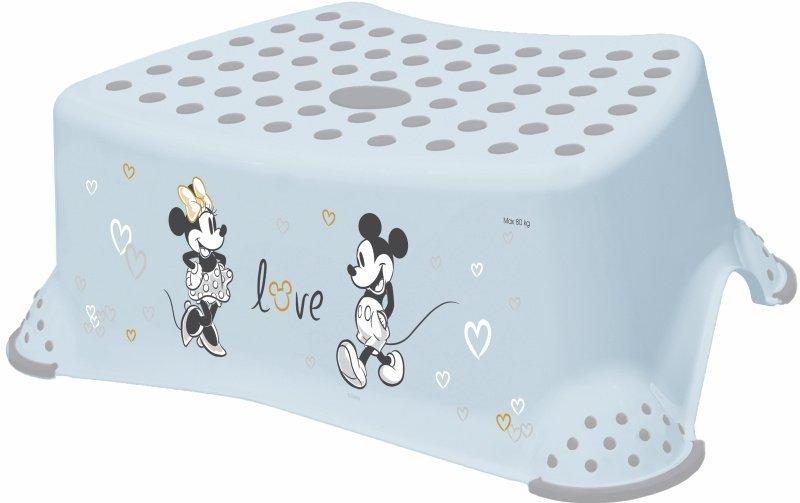 Protiskluzov� stup�nek stoli�ka Mickey Mouse sv�tle modr� - zv��i� obr�zok