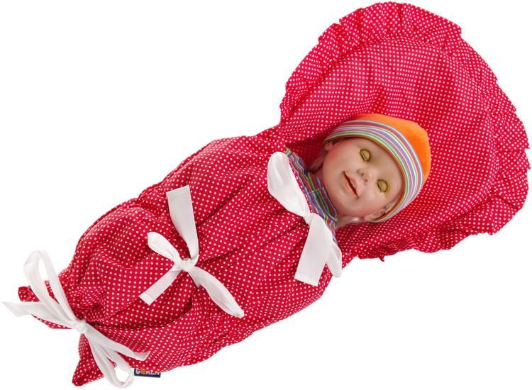 Zavinova�ka do porodnice �erven� punt�ky - povlak - zv��i� obr�zok