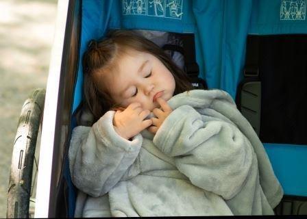 Detsk� deka Kangaroo mini s ruk�vmi a kapsi�kou - zv��i� obr�zok