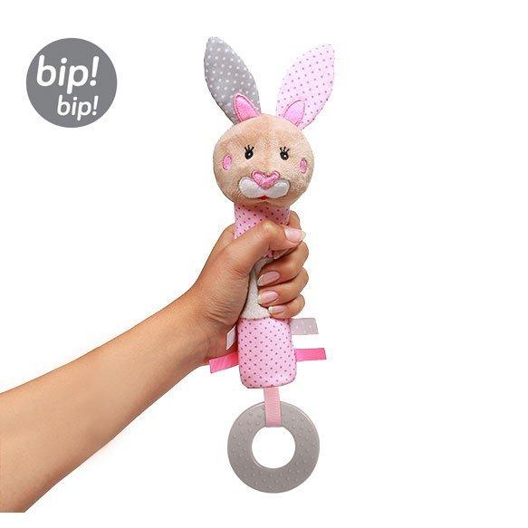 Ply�ov� hra�ka do ruky s p�skatkom zaja�ik Julie - zv��i� obr�zok