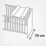 P�ebalovac� podlo�ka tvrd� 50x80 cm b�ov� hv�zdi�ky - zv��i� obr�zok