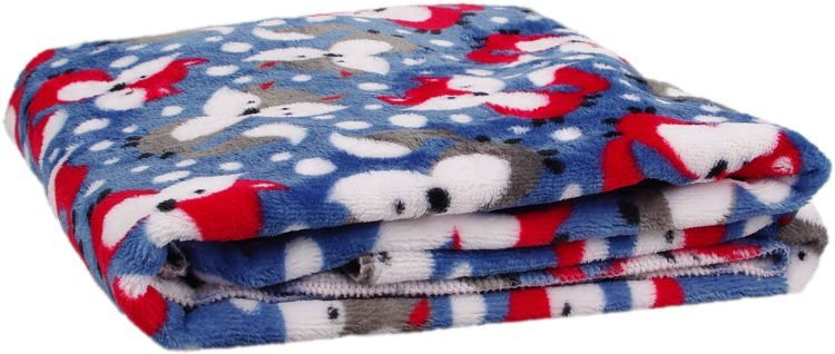 Deka Flanel fleece modr� li�ka 100x150cm - zv��i� obr�zok