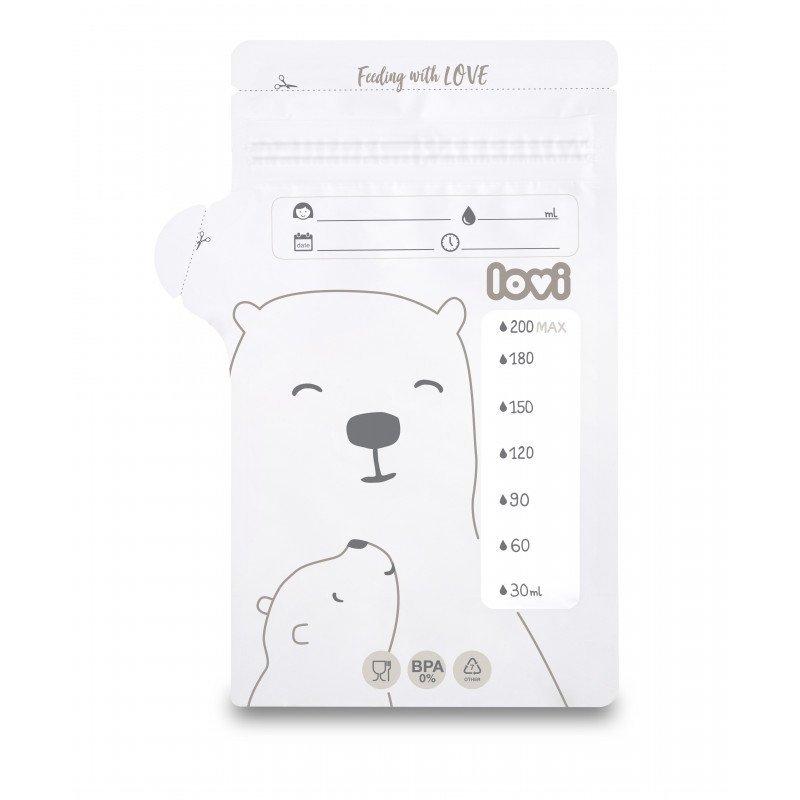 Sбиky k uchovбvбnн odsбtйho mlйka 25 ks Buddy Bear - zvдиљiќ obrбzok