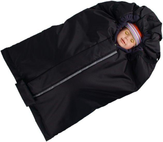 Fusak �erno-�ed� s fleece pod��vkou - zv��i� obr�zok