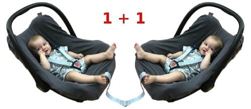 Potah z bio-bavlny na d�tskou autoseda�ku 1+1 p��rodn� - zv��i� obr�zok