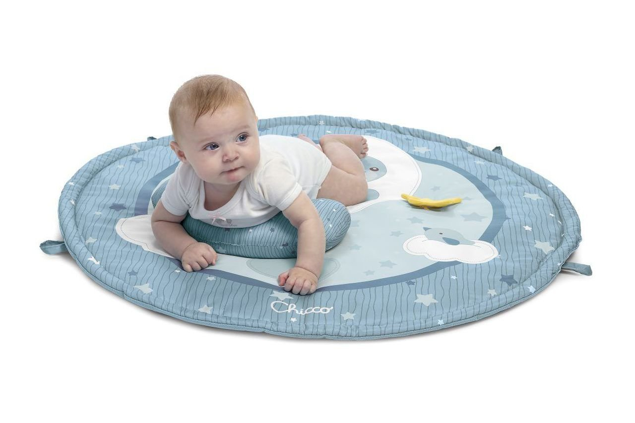 Hrac� deka pro miminka 3v1 modr� - zv��i� obr�zok