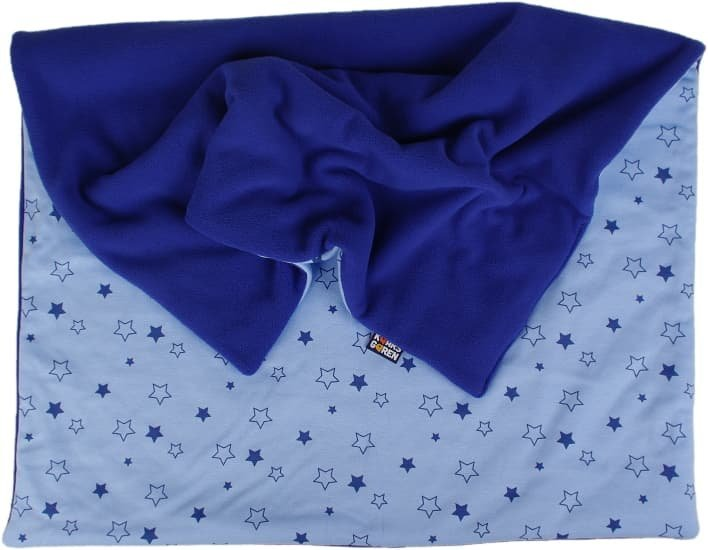 Zateplen� d�tsk� deka 70x100 cm modr� hv�zdi�ky - zv��i� obr�zok