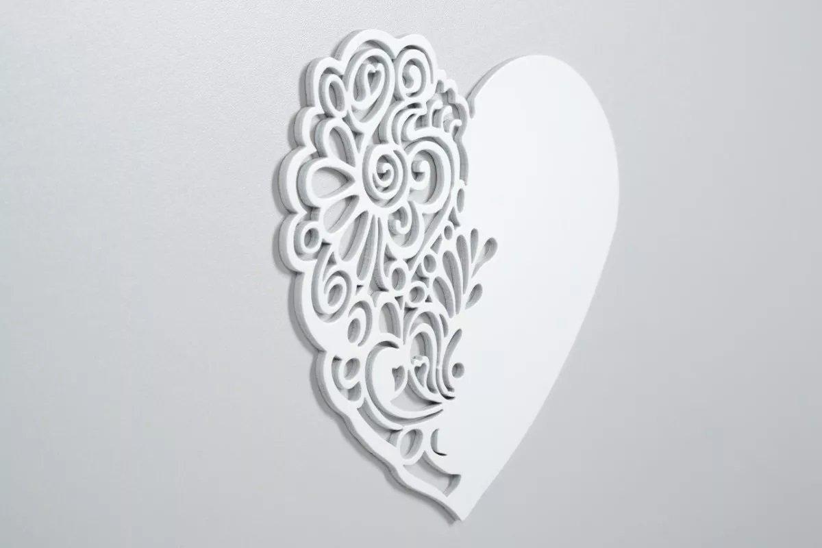 D�tsk� post�lka 120x60 cm Nel srdce b�l�-popel - zv��i� obr�zok
