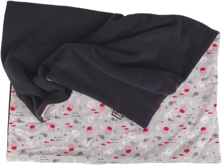 Zateplen� d�tsk� deka 70x100 cm �ed� rybi�ky - zv��i� obr�zok