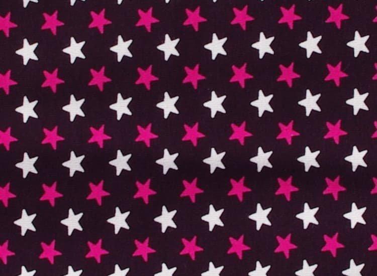 Spac� pytel s no�i�kami 110 cm hv�zdi�ky na fialov� - zv��i� obr�zok