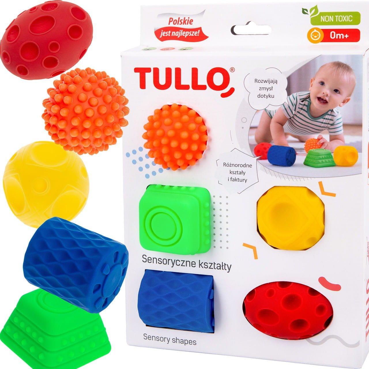 Senzorick� hra�ky tvary 5 ks - zv��i� obr�zok