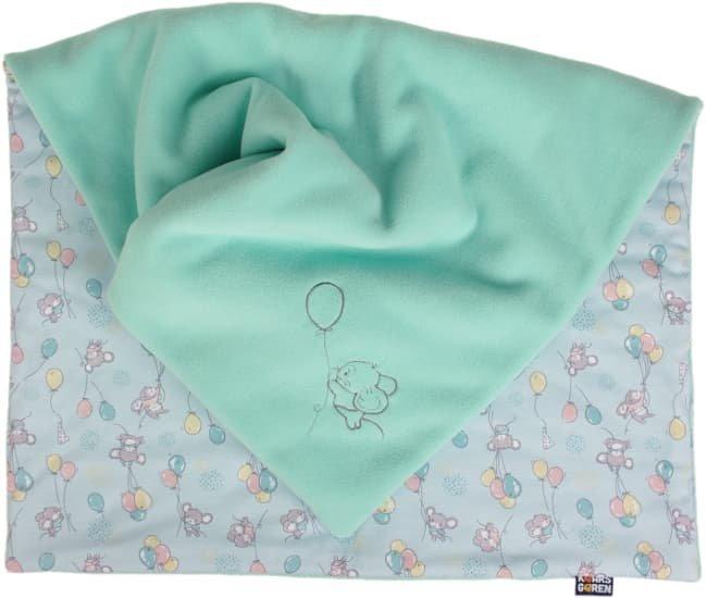 Zateplen� detsk� deka 70x100 cm mentolov� my�ky - zv��i� obr�zok