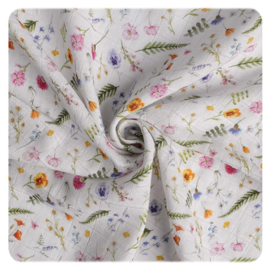 Bavlnen� plienka Organic 120x120 cm Summer Meadow - zv��i� obr�zok
