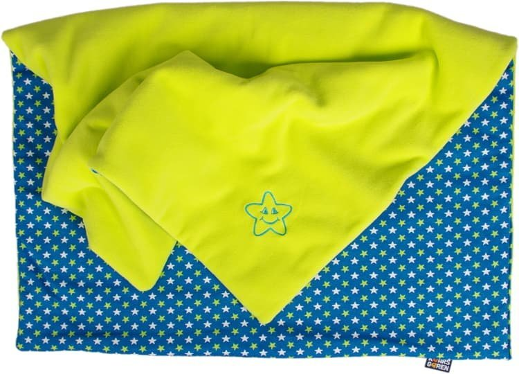 Zateplen� detsk� deka hviezdi�ky 70x100 cm limetkov� - zv��i� obr�zok