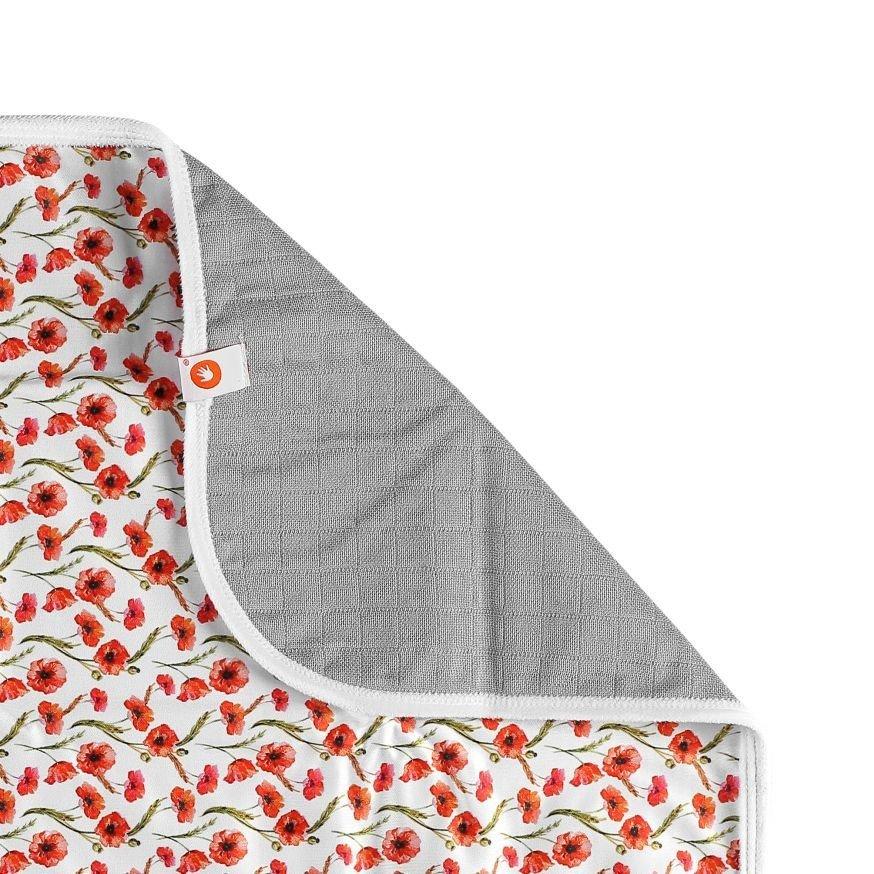 Prateln� preba�ovacia podlo�ka 50x70 cm Digi Poppies - zv��i� obr�zok