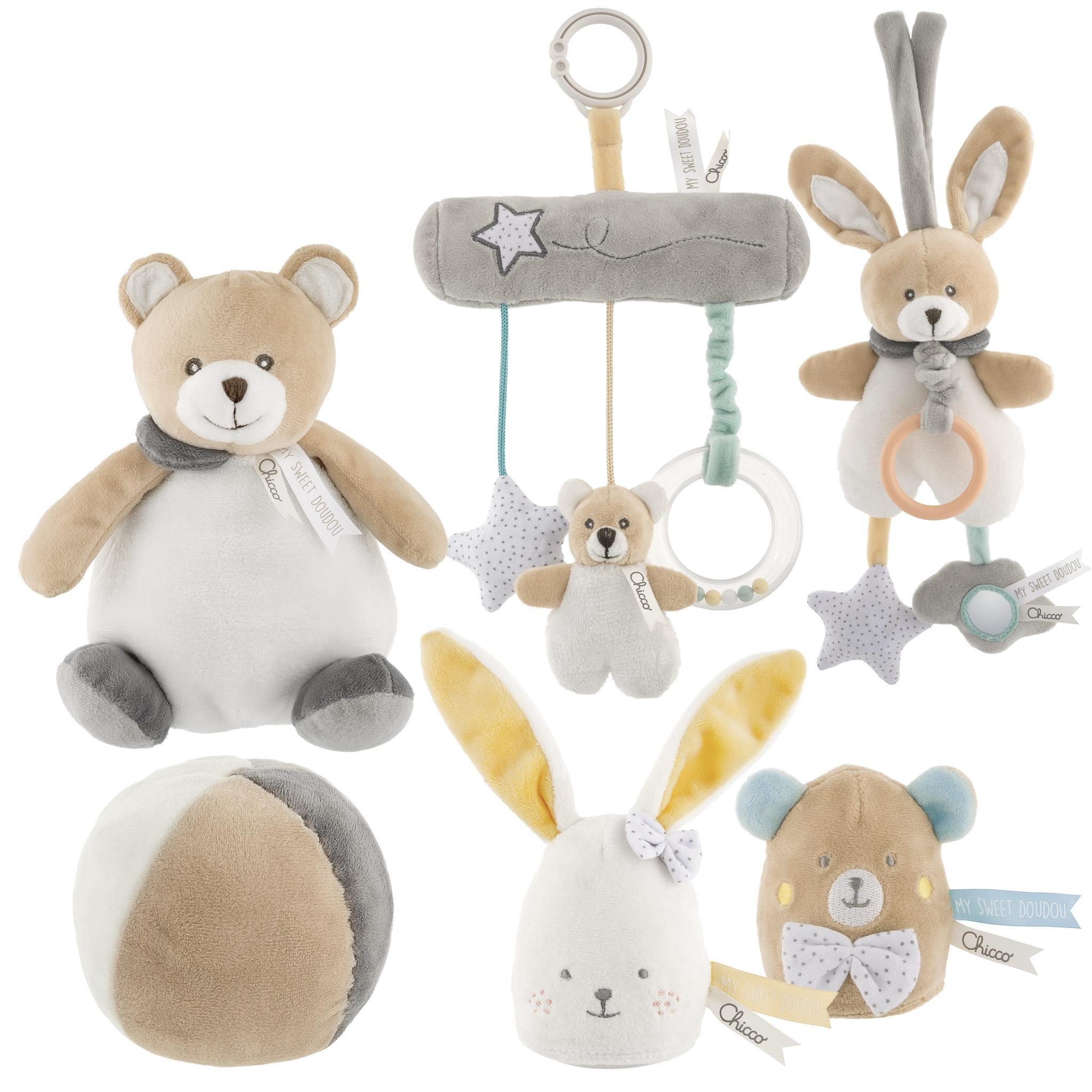 Koloto� My Sweet medved�k & zaja�ik b�ov� - zv��i� obr�zok