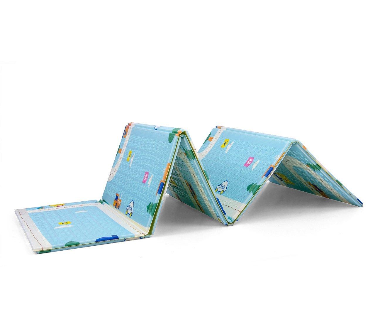 Skladacia penov� podlo�ka na hranie Play Street BlueMilly Mally - zv��i� obr�zok