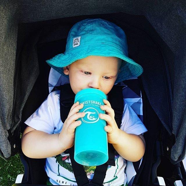 Hrn�ek Kid Cup 360ml 12+ Pastelovo modr� - zv��i� obr�zok