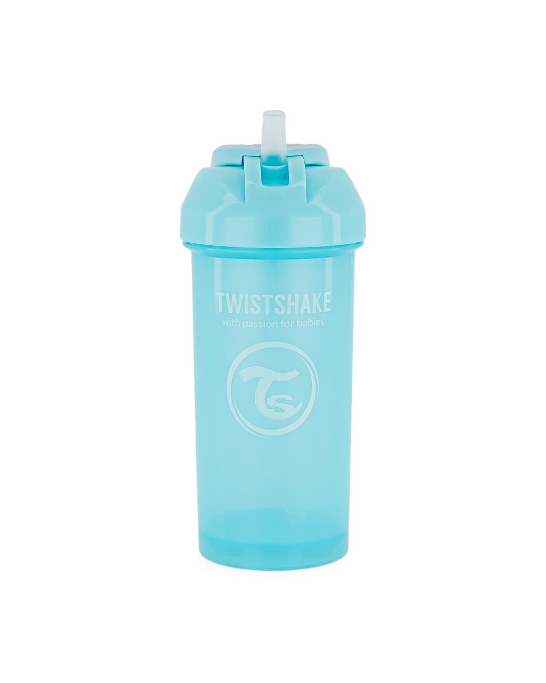 F�a�a so slamkou Straw Cup 360 ml 6+ Pastel modr� - zv��i� obr�zok