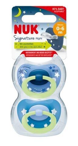 Cuml�k silik�n SIGNATURE NIGHT 0-6m 2ks - zv��i� obr�zok