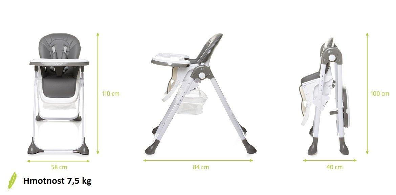 Jed�lensk� stoli�ka DECCO siv� - zv��i� obr�zok