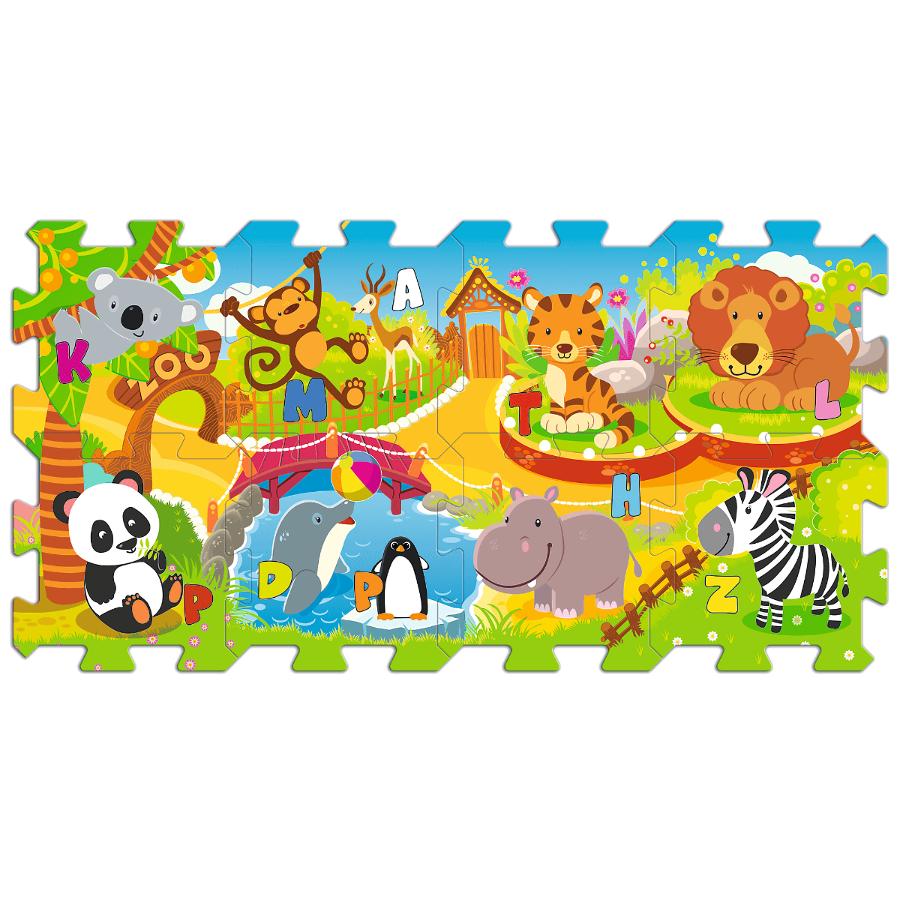 D�tsk� p�nov� puzzle Zoo Fun 5v1 8 ks - zv��i� obr�zok