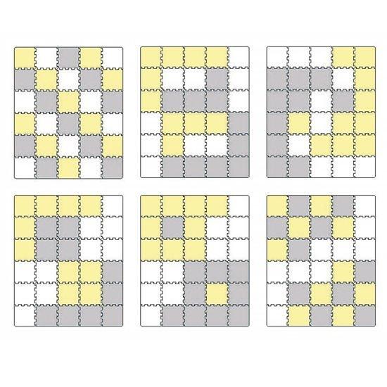 Penov� podlo�ka puzzle LUNO �lto-biela - zv��i� obr�zok